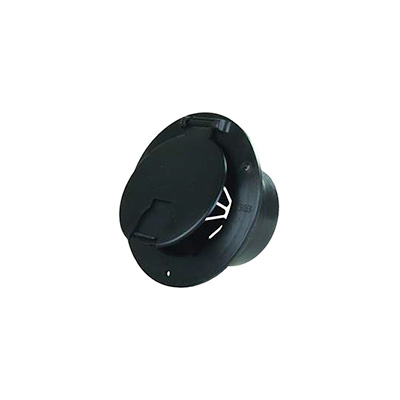 RV Electrical Cord Hatch - JR Products - Plastic - Round - Black