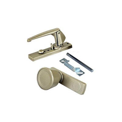 RV Door Latch - JR Products - Universal Fit - Gold - Hardware Included