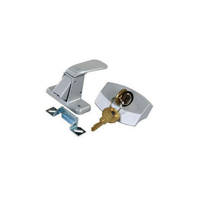 Camper Door Latch - JR Products - Entrance - Locking - 701 Key - Silver
