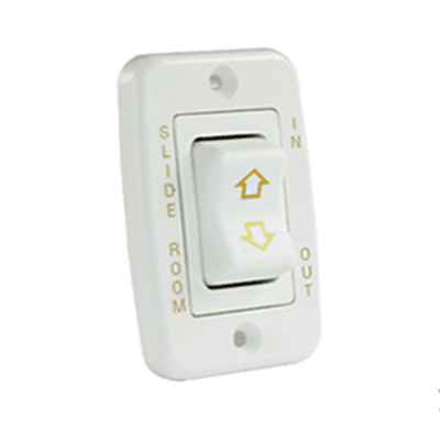 Slide Out Room Switch - JR Products 12V Low Profile 5-Pin Slide Out Switch - White
