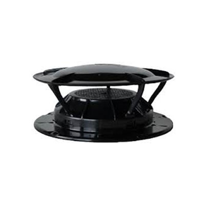 Sewer Vent Cap - 360 Siphon Sewer Vent Cover With Bug Screen - Black