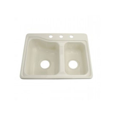 Sinks - Lippert Components Double Bowl ABS Parchment Kitchen Sink
