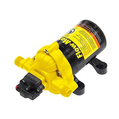 Water Pump - Flow Max Fresh Water RV Pump With Strainer And Fittings - 12V - 3.2 GPM