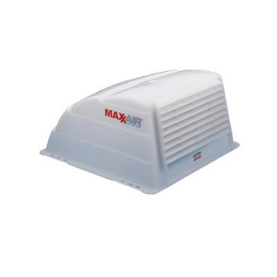 Roof Vent Cover - MaxxAir Standard-Size Exterior RV Roof Vent Cover - White