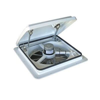 RV Roof Vent - MaxxFan 4301K Exhaust Only Roof Vent With 4 Speeds White Lid