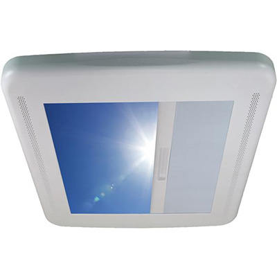 RV Vent Blind - MaxxShade Roller Type Roof Vent Shade With Reflective Finish - White