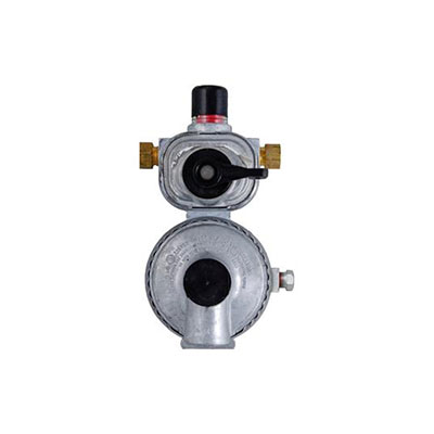 Propane Regulator - MEC Excela-Flo Auto Changeover 2-Stage Regulator With End Vent