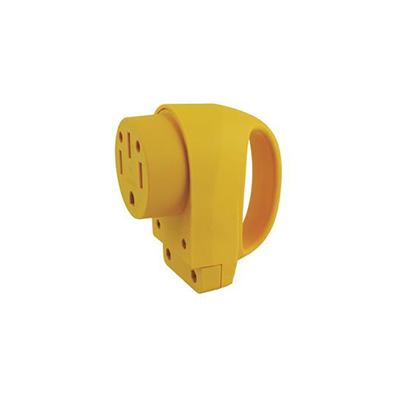 Power Cord Plug End - ParkPower 50A Female Replacement Connector - Yellow