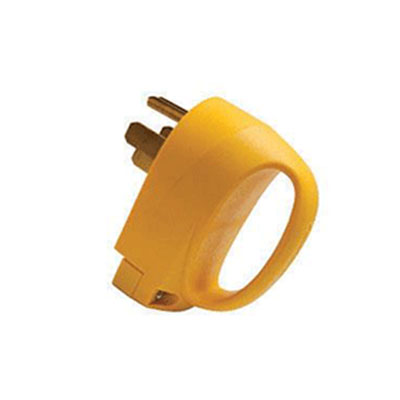 Power Cord Plug End - ParkPower 50A Male Replacement Connector - Yellow