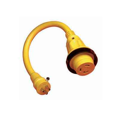 Power Cord Adapter - ParkPower Locking Pigtail With Power Indicator Light - 15A-M To 30A-F