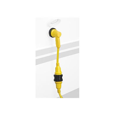 Power Cord Adapter - ParkPower Locking Pigtail With Right Angle Design - 30A-M To 30A-F