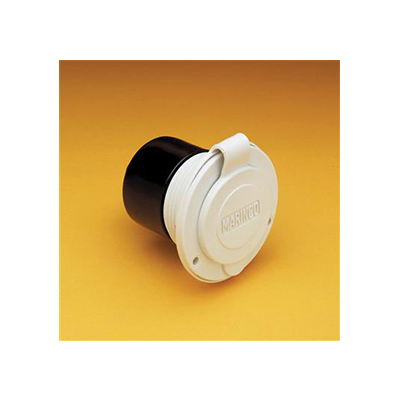 Power Receptacle - Marinco 15A Flush Mount Round Plug - White