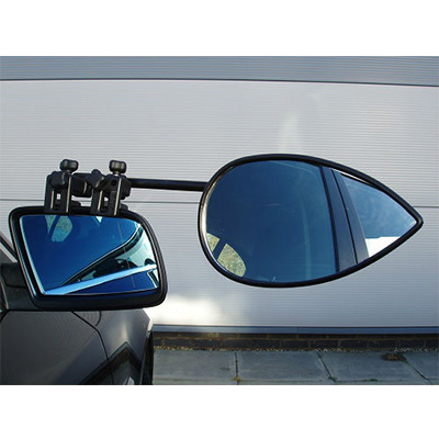 Towing Mirrors - Milenco Aero3 Universal-Fit Clamp-On Towing Mirror - 1 Per Pack