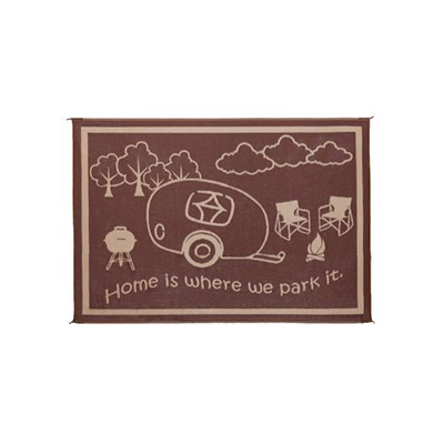 Camping Mats - Ming's Mark - Campsite - 8 x 11 Feet - Brown/Beige