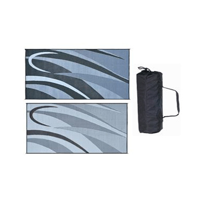 Camping Mats - Ming's Mark - Graphic - 8 x 16 Feet - Black/Silver
