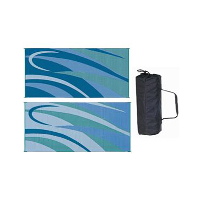 Camping Mats - Ming's Mark - Graphic - 8 x 16 Feet - Blue And Green