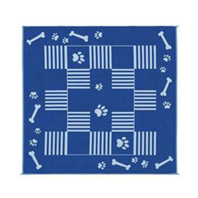 Camping Mats - Ming's Mark - Canine - 9 x 9 Feet - Blue/White