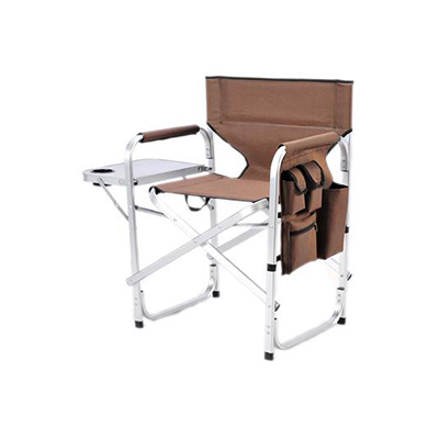 Chairs - Ming's Mark Director-Style Folding Chair With Side Pouch And Tray - Brown