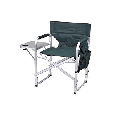Camping Chairs - Ming's Mark Director-Style Folding Chair With Side Pouch And Tray - Green