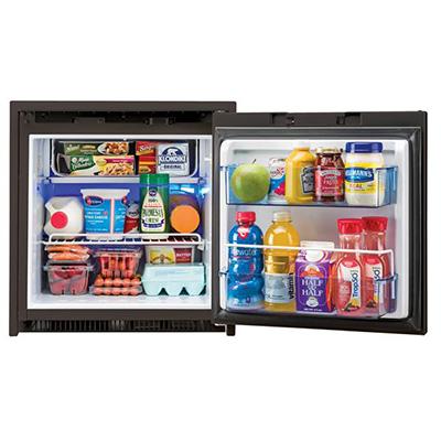 Refrigerator - Norcold 2-Way AC/DC 2.7 Cubic Foot Refrigerator - Black