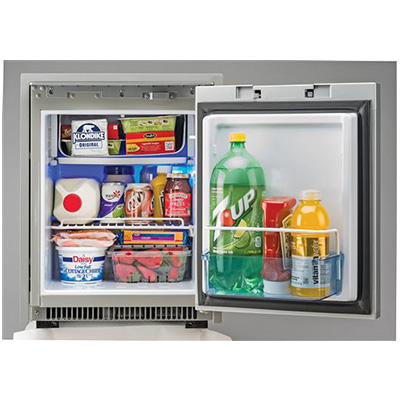RV Refrigerator - Norcold - 2-Way - AC/DC - 1.7 Cubic Feet - Black