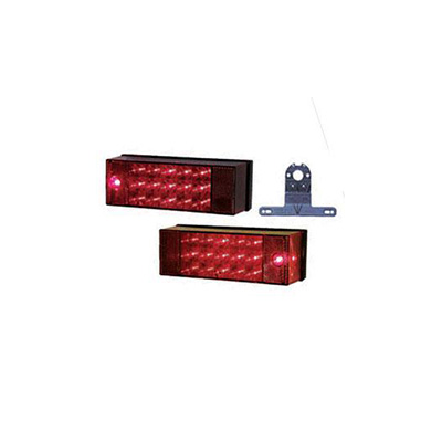 Trailer Light Kit - Peterson Manufacturing LED Trailer Light Kit With Plate Holder 12V