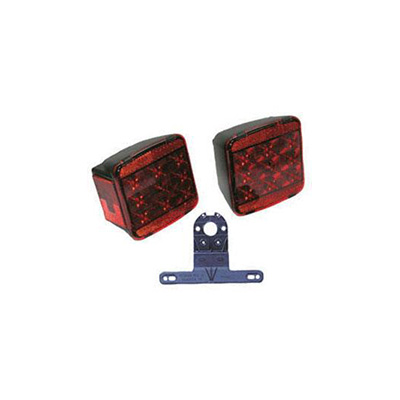 Trailer Light Kit - Peterson LED Trailer Light Kit With Wire Harness And Plate Holder