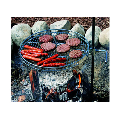 Fire Pit Grate - Pioneer Campfire Grill - Carry Bag - Glove