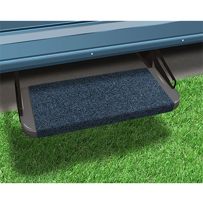 "RV Step Rug - Prest-O-Fit - Outrigger - Straight Front - 18""W - Atlantic Blue"