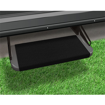 "RV Step Rug - Prest-O-Fit - Outrigger - Straight Front - 18""W - Black Onyx"