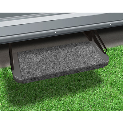 "RV Step Rug - Prest-O-Fit - Outrigger - Straight Front - 18""W - Castle Grey"