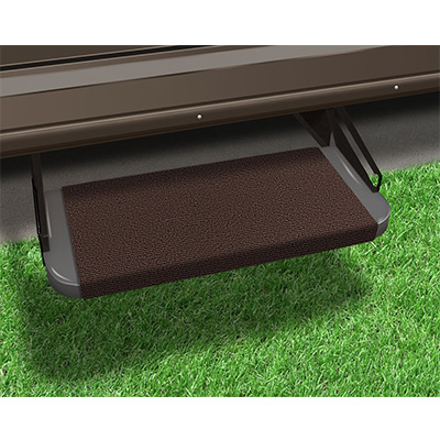 "RV Step Rug - Prest-O-Fit - Outrigger - Straight Front - 18""W - Chocolate Brown"