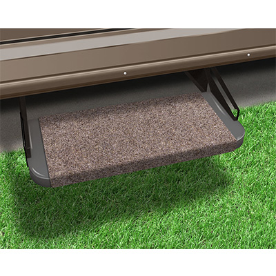 "RV Step Rug - Prest-O-Fit - Outrigger - Straight Front - 18""W - Walnut Brown"