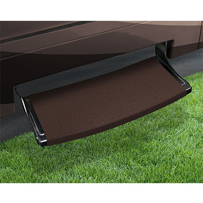 "RV Step Rug - Prest-O-Fit - Outrigger - Radius Front - 22""W - Chocolate Brown"