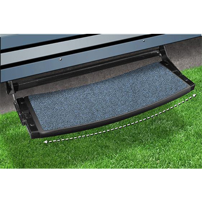 "RV Step Rug - Prest-O-Fit - Outrigger - Radius Front - 22""W - Atlantic Blue"