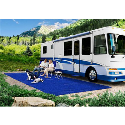 Mats - Prest-O-Fit Patio Rug 6' x 15' With Finished Edges - Imperial Blue