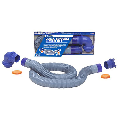 Sewer Hose - Blueline Ultimate Sewer Hose Kit With Quick Connects And Elbow - 10'L