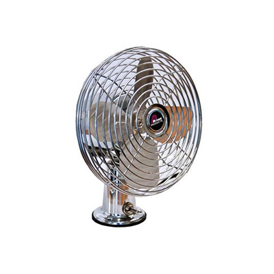 Fan - Prime Products 12V Surface Mount Fan With Tilting Head - 2 Speeds - Chrome
