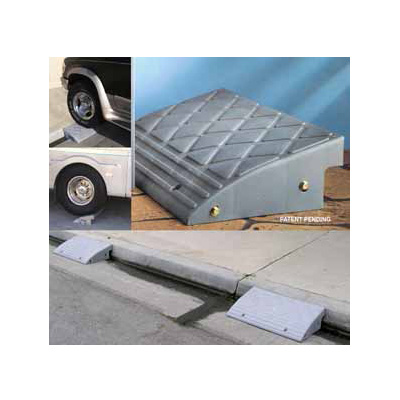 Ramps - Prime Products Plastic Curb Ramp - 20000 Lbs Capacity