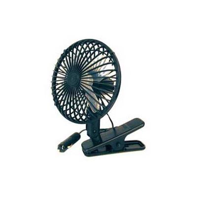 Fan - Prime Products 12V Clip-Mount Oscillating Fan - Black - 2 Speeds