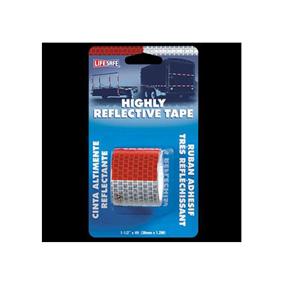 Reflective Tape - Lifesafe - Adhesive - Red And Silver