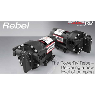 Water Pump - Aquajet Rebel Fresh Water RV Pump With Fittings - 12V - 5.3 GPM