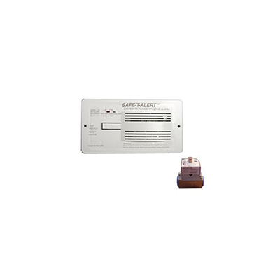 CO/LP Detector - Safe-T-Alert 70 Series 12V Flush Mount CO/LP Alarm With Solenoid - White