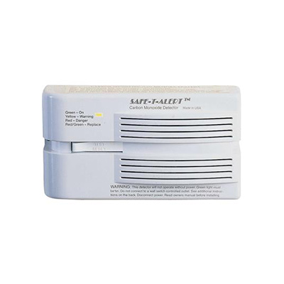 CO Detector - Safe-T-Alert 65 Series 12V Surface Mount Carbon Monoxide Detector - White