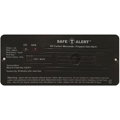 CO/LP Detector - Safe-T-Alert - 35 Series - 12V - Flush Mount - Black