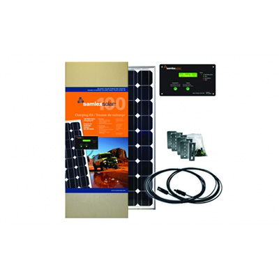 Solar Panel - Samlex Solar Kit With Panel, Controller, Wire & Hardware 100 Watts - 30A