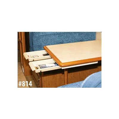 Table Drawer - Smart Solutions Add-A-Drawer White Sliding Table Drawer