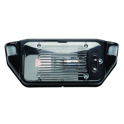 Porch Lights - AP Products LED Motion-Activated Porch Light With Black Base & Clear Lens