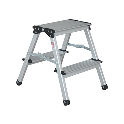 Step Stool - Stromberg Carlson Aluminum Step Stool With Folding Legs - 330 Lbs Capacity