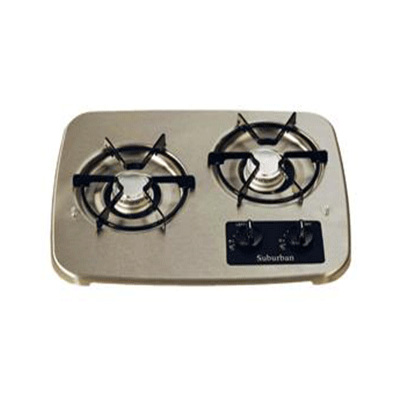 RV Cooktop Grate - Suburban - SDN2 And SDN3 - OEM - Black